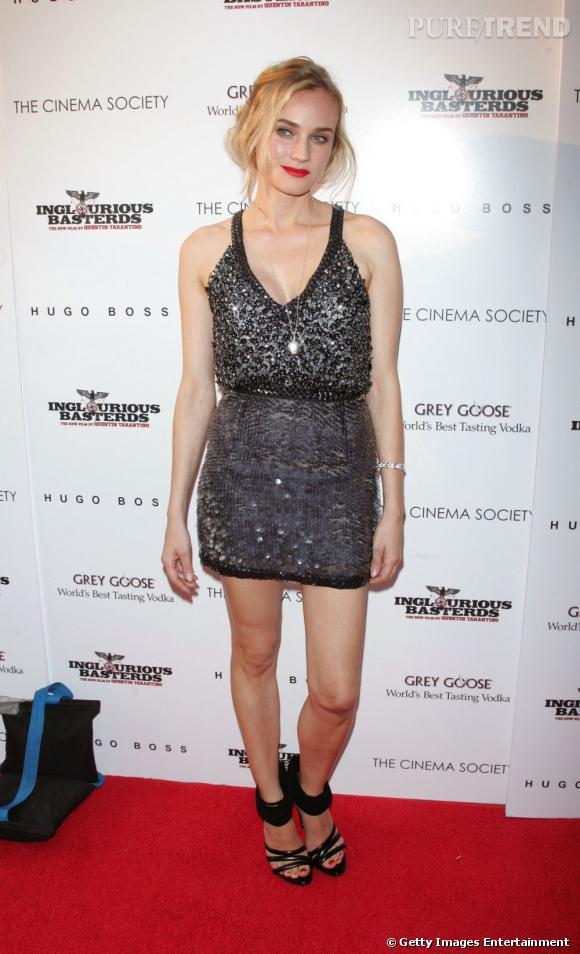 Diane Kruger et ses paillettes grises, so chic !