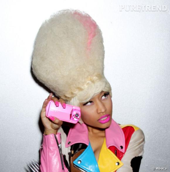 Nicki Minaj et l'une de ses nombreuses moumoutes.