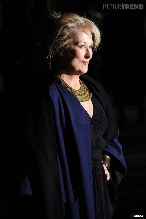 """Meryl Streep à la première européenne de """"The Iron Lady"""" à Londres."""