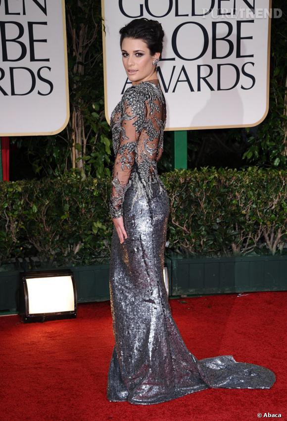 Dans sa robe Marchesa, Lea Michele est une belle sirène.
