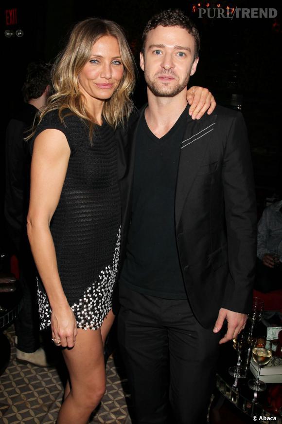 """Cameron Diaz et Justin Timberlake : récemment réunis dans le film """"Bad Teacher"""", le couple avait partagé 3 ans de vie commune de 2003 à 2006."""