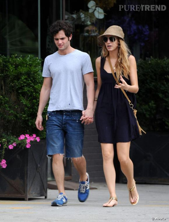 """Blake Lively et Penn Badgley : ils sont tombés amoureux sur le tournage de """"Gossip Girl"""" et comme dans la série ils ont fini par se séparer en 2010."""