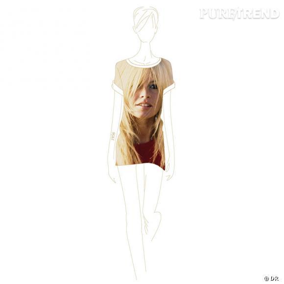 Collection de t-shirts Brigitte Bardot, Maje.