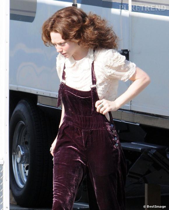 """Amanda Seyfried sur le tournage du film """"Lovelace"""" à Manhattan Beach."""
