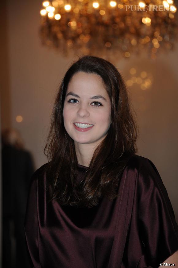 Anouchka Delon au défilé de Christophe Josse à Paris.