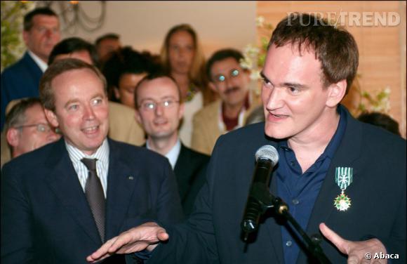 En 2004, c'est le réalisateur Quentin Tarantino qui fait son entrée dans l'Ordre des Arts et des Lettres.