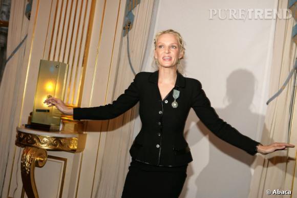 Uma Thurman, nouveau Chevalier des Arts et des Lettres en 2006.