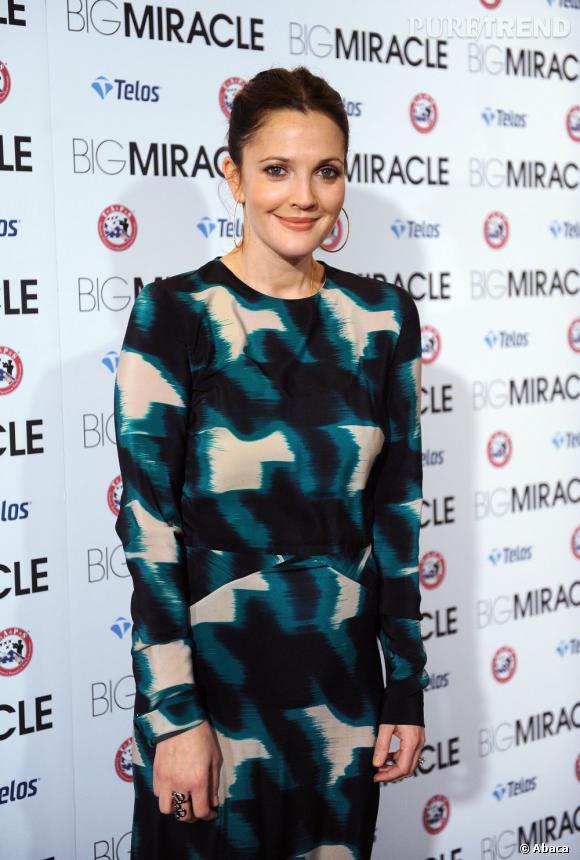 """Drew Barrymore à l'avant-première de """"Big Miracle"""" à Washington."""