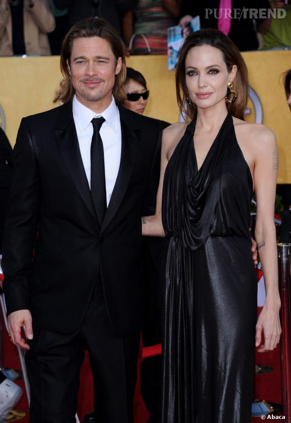 Brad Pitt et Angelina Jolie.