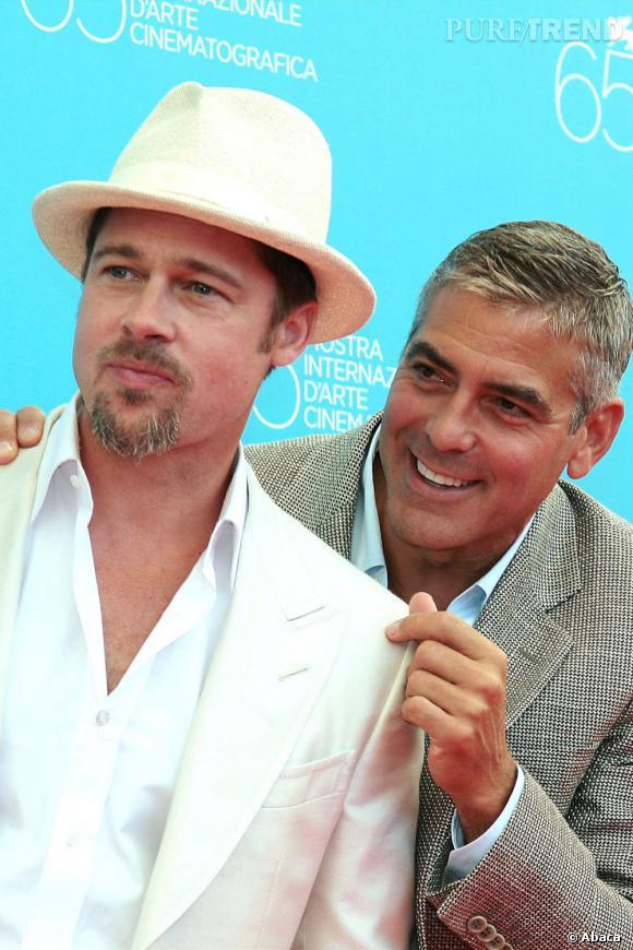 Brad Pitt et George Clooney, le duo d'amis le plus célèbre du showbizz. Les deux hommes sont inséparables et s'amusent régulièrement à lancer des rumeurs l'un sur l'autre dans les médias.