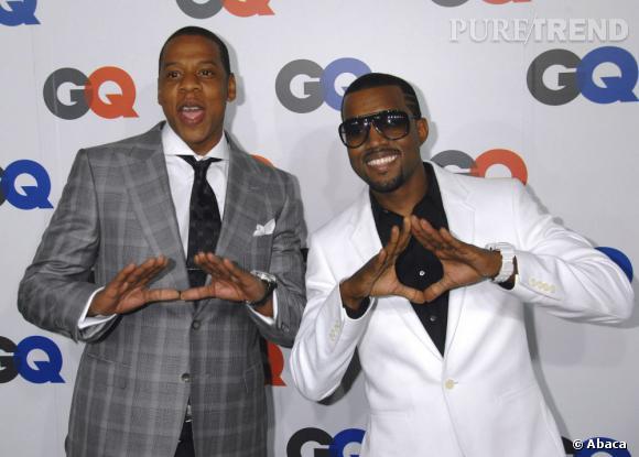 """Jay-Z et Kanye West, les potes version """"gangsta rap"""" seront ensemble à Bercy en juin prochain."""