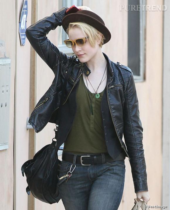 Evan Rachel Wood dans les rues de Santa Monica.