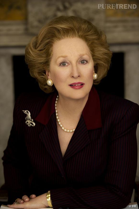 """Meryl Streep dans la peau de Margaret Thatcher, dans le film """"La Dame de fer""""."""