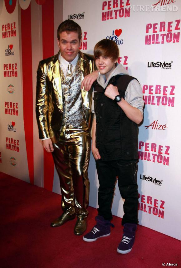 Perez Hilton au côté de Justin Bieber. Vont-ils rester amis longtemps ?