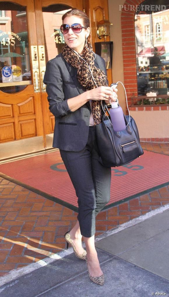 Kate Walsh en pleine session shopping.