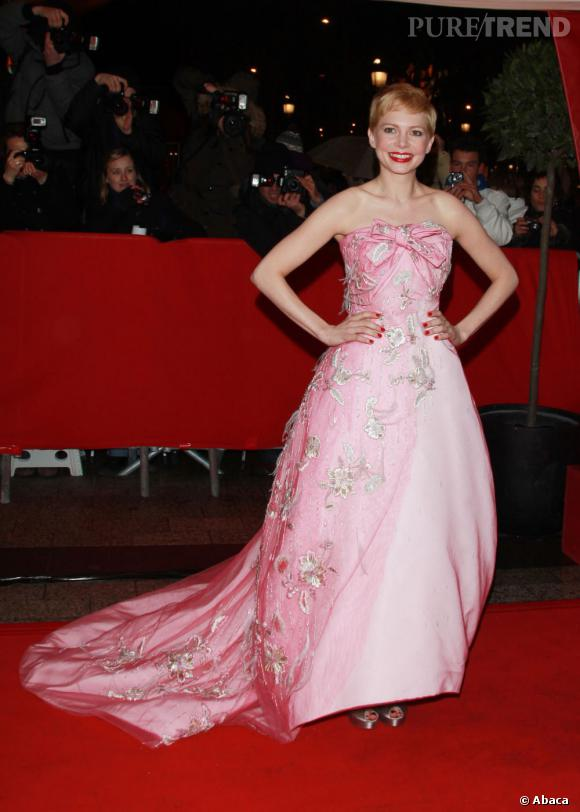Michelle Williams opte pour une robe Couture Christian Dior très princesse.