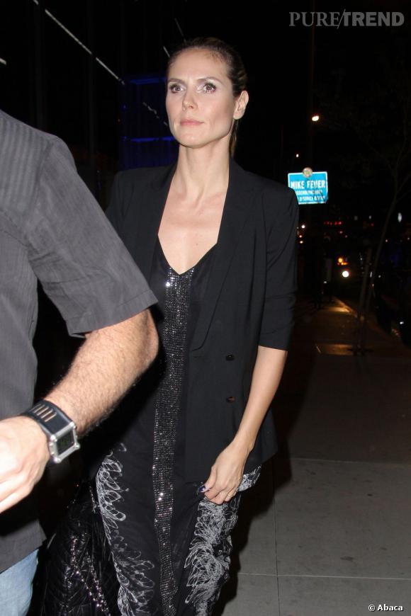 Heidi Klum au BOA Restaurant de Los Angeles.