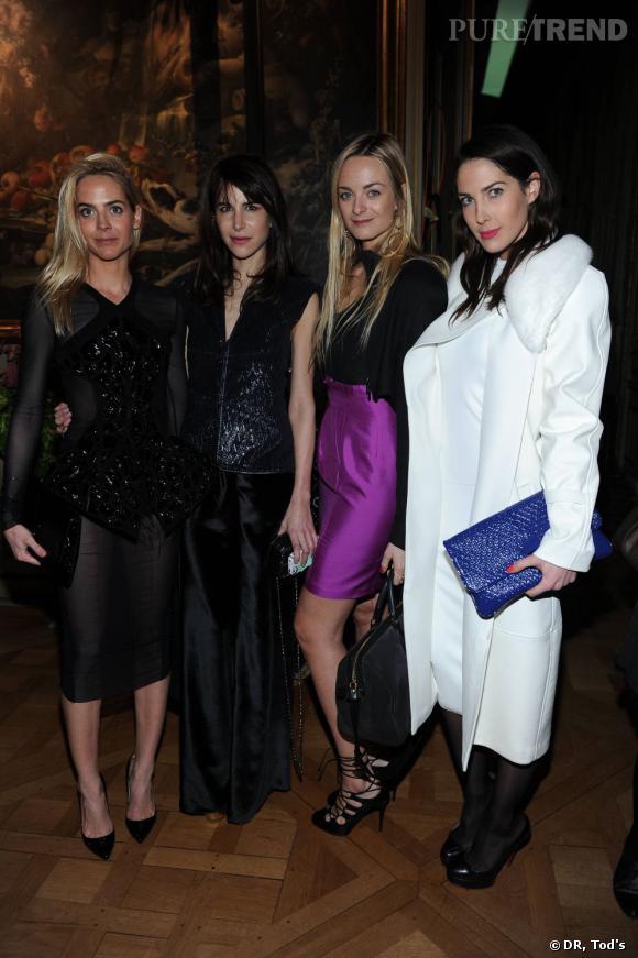 De gauche à droite : Jenna Courtin, Caroline Sieber, Virginie, Prisca Courtin Clarins.