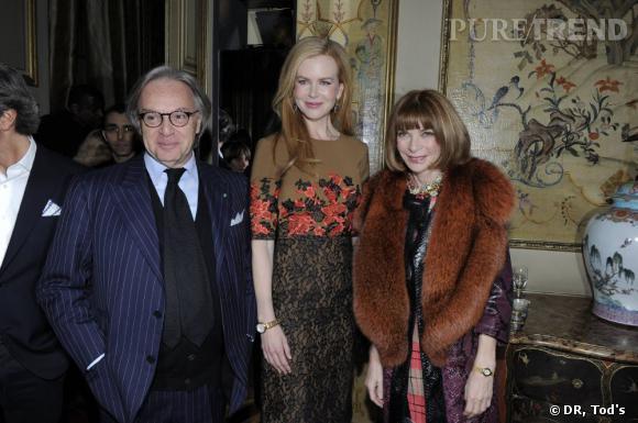 Diego Della Valle, Nicole Kidman, Anna Wintour.