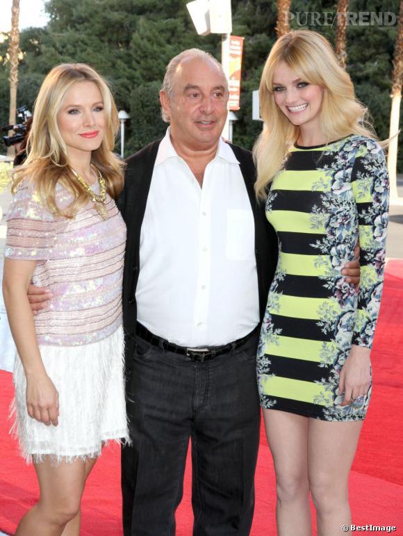 Kristen Bell, Sir Philip Green et Lydia Hearst.