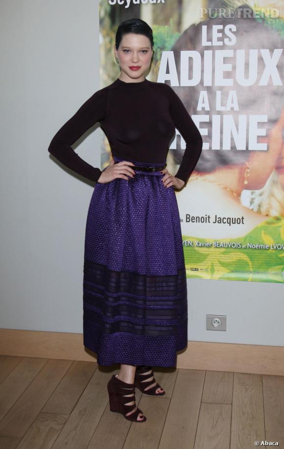 Léa Seydoux porte une robe Christian Dior Automne-Hiver 2012/2013.