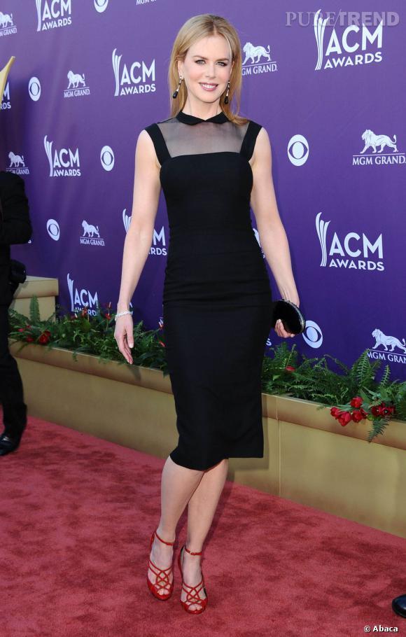 Nicole Kidman lors des 47e Academy of Country Music Awards organisés à Las Vegas.