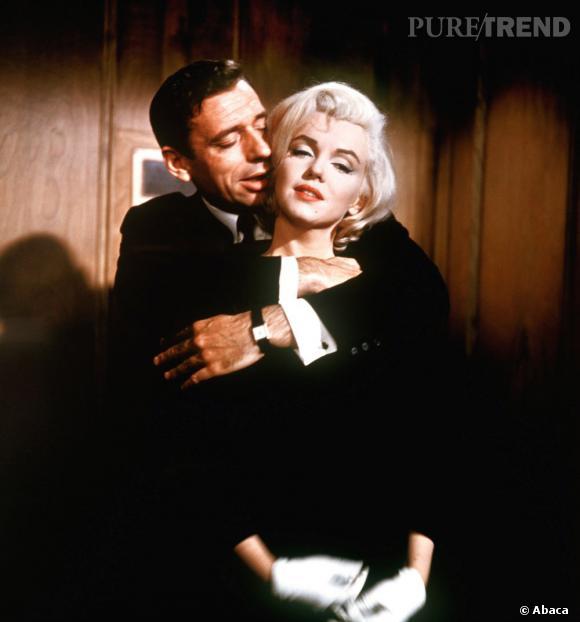"""En 1960 Marilyn Monroe flirte avec Yves Montand, pendant le tournage du film """"Le Milliardaire"""". Simone Signoret la compagne de celui-ci déclara """" Si Marilyn est amoureuse de mon mari, c'est la preuve qu'elle a bon goût ."""". Montand se lassa finalement des sentiments de Monroe à son égard et retourna avec Signoret."""
