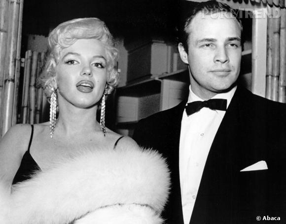 De 1955 à 1962, Marilyn Monroe voit régulièrement Marlon Brando, l'un de ses plus grand flirt. Veinarde.