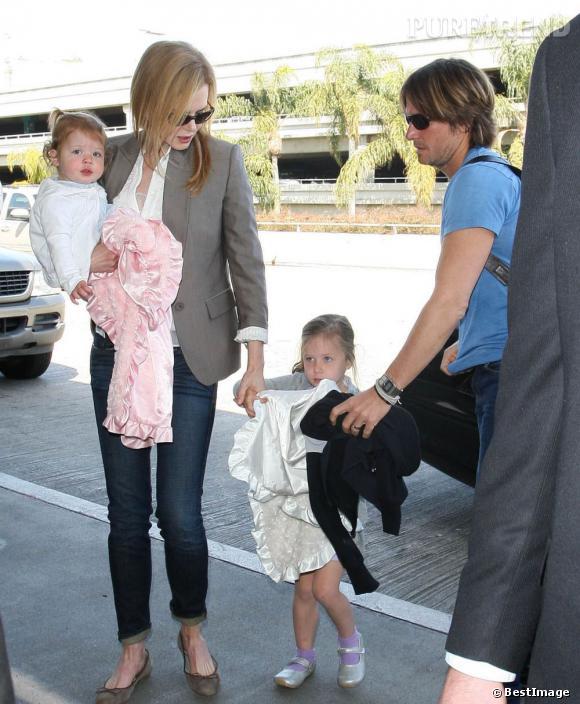 Nicole Kidman et ses filles, Sunday Rose et Faith Margaret.