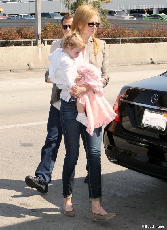 Nicole Kidman, une maman chic et décontractée.