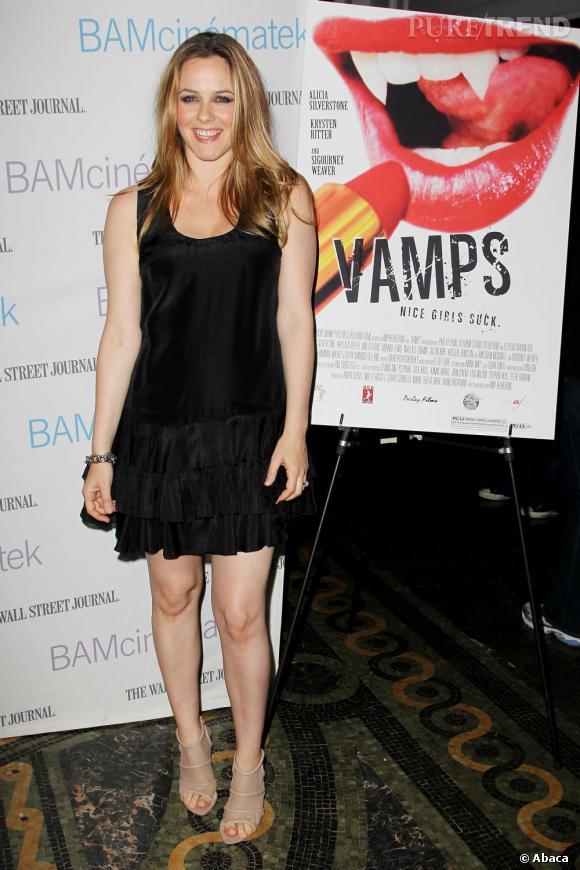 "Alicia Silverstone présente le film ""Vamps"" à New York."