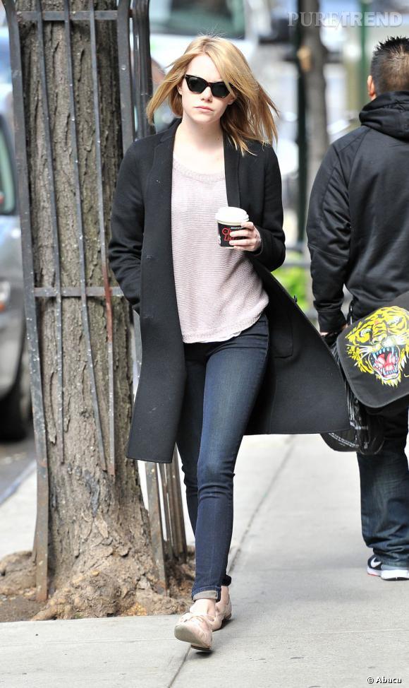 Emma Stone dans les rues de New York.