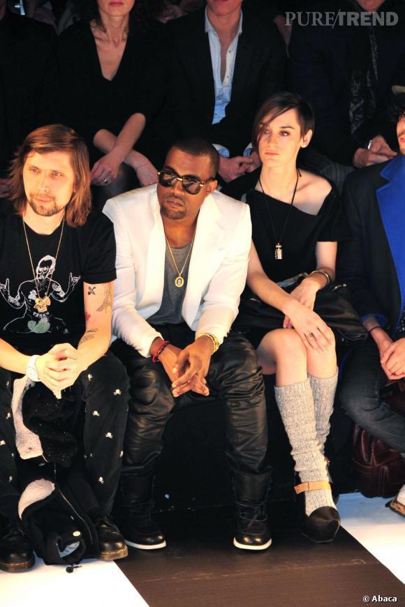 Kanye West, bête de mode en front row.