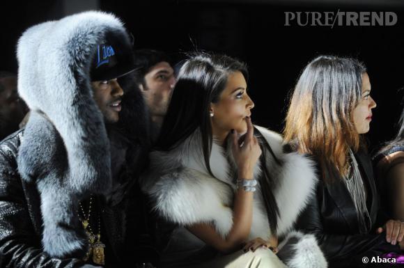 """Kim Kardashian n'a pas manqué d'assister au dernier défilé de son nouveau """"boyfriend""""."""