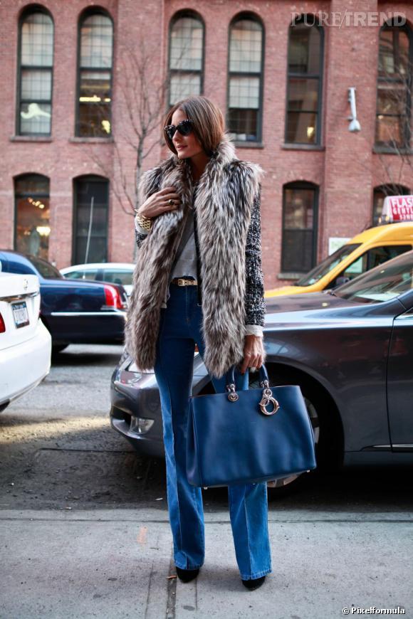 Pour Olivia Palermo, un cabas Dior assorti à sa tenue sinon rien.       A shopper ici :    www.dior.com