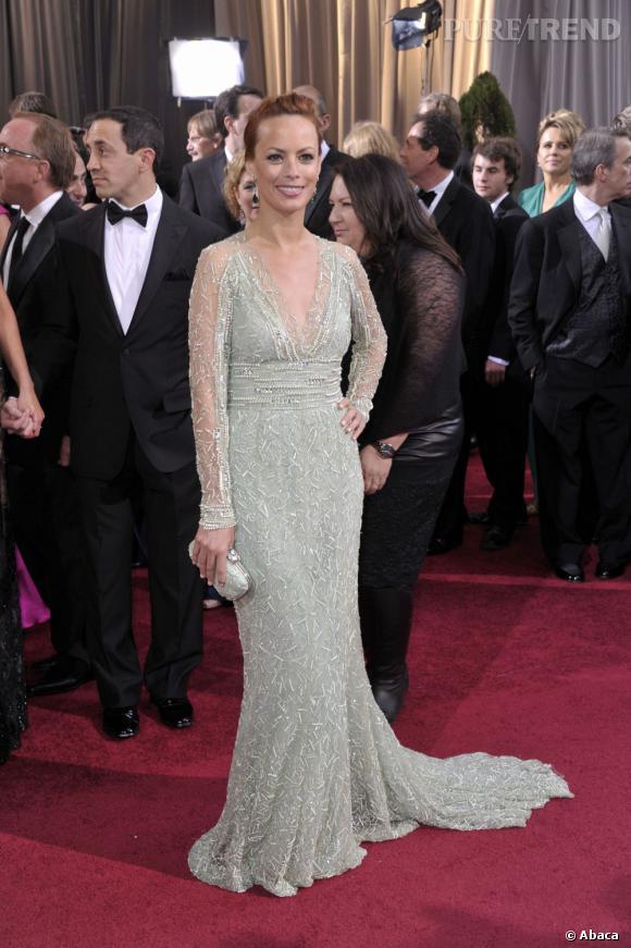 Bérénice Bejo ou le glamour glitter en Elie Saab Couture Printemps-Été 2012.