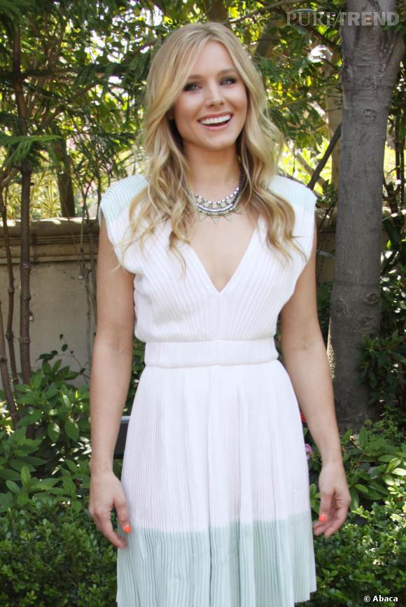 """Kristen Bell lors d'une conférence de presse pour sa nouvelle série """"House of Lies"""" à Los Angeles."""