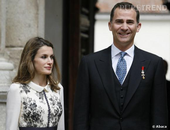 Letizia Ortiz aux  Cervantes Award 2012 à l'Université Alcala de Henares près de Madrid.