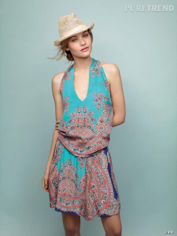 26879a2d3d2e Tendance imprimé foulard   le bon shopping Top et jupe  quot Métamosphose  Silvana quot  100