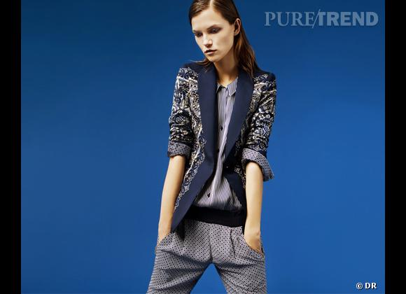 3d2a48f8d354 Tendance imprimé foulard   le bon shopping Blazer Zara, 69,95 ...