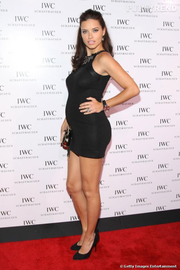 Adriana Lima à l'ouverture de la boutique IWC à New York.