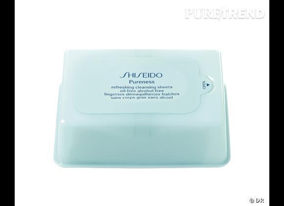 Pureness, Lingettes démaquillantes fraîches, Shiseido, 17,50 €.