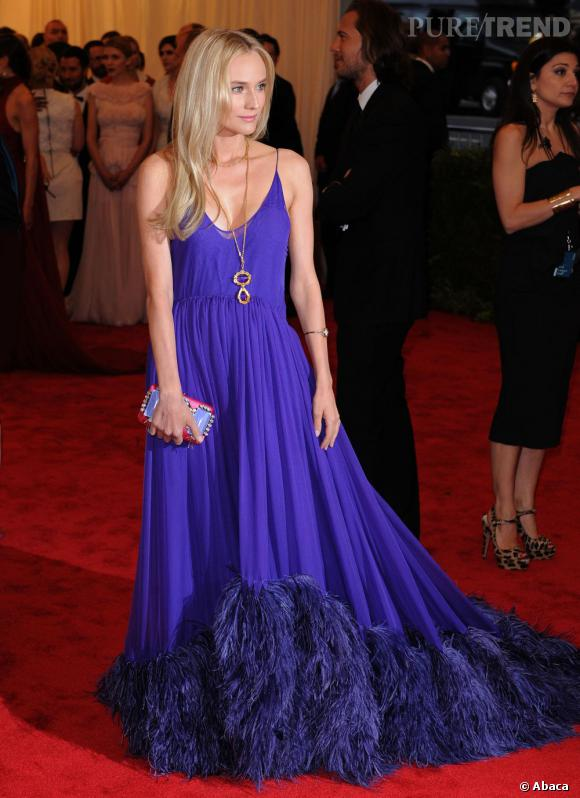 Diane Kruger lors du MET Ball 2012 à New York.