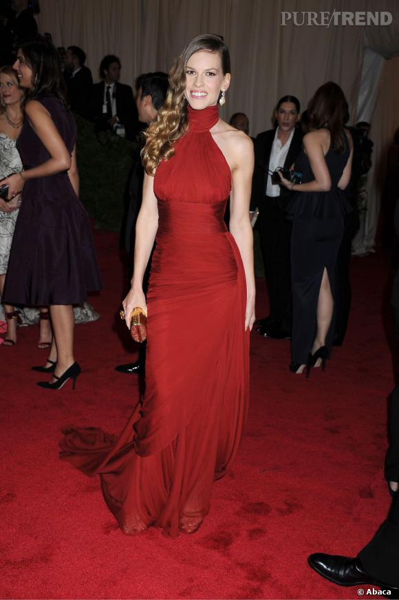 Hilary Swank au MET Ball 2012 à New York.