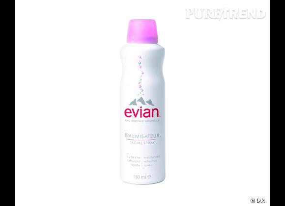 Dans mon vanity spécial Cannes : Brumisateur Eau d'Evian, 3,60 € (150 ml)