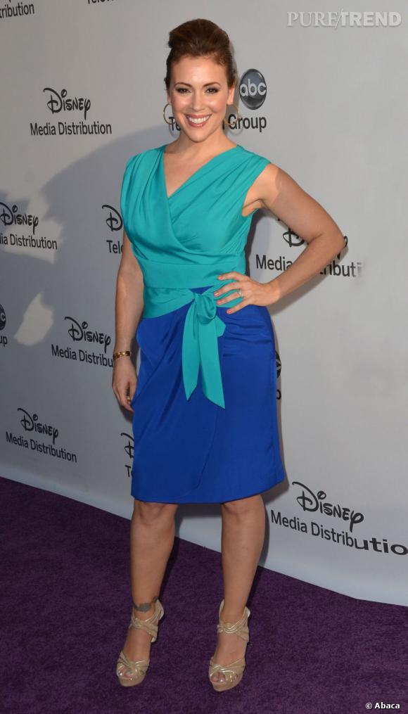 Alyssa Milano à la soirée Disney Network à Beverly Hills.
