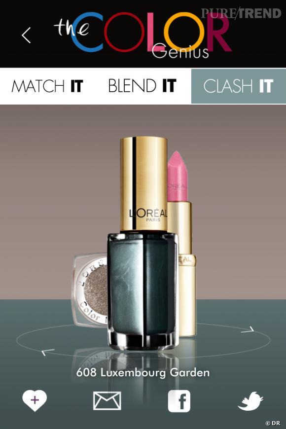 La nouvelle appli L'Oréal Paris The Color Genius ? Un gain de temps pour toutes les nailistas.