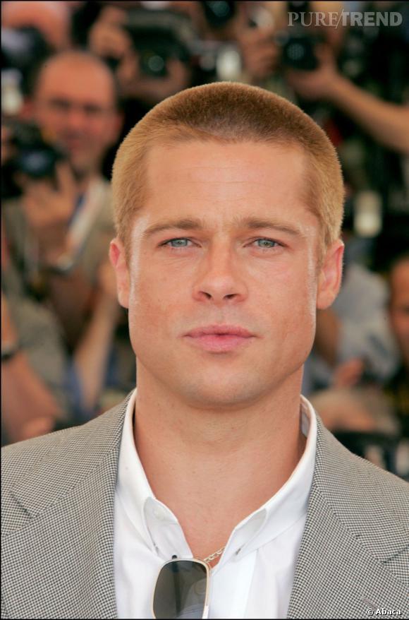 En 2004, Brad Pitt s'essaie au crâne presque rasé, avec des reflets roux qui plus est.