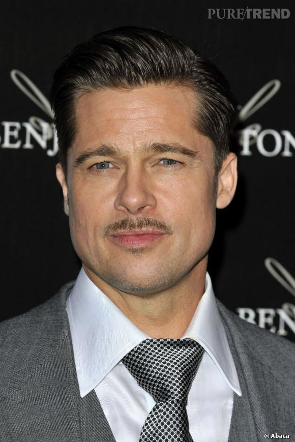 Début 2009, Brad Pitt s'essaie à la coiffure militaire et à la petite moustache pour son rôle dans Inglorious Basterds.