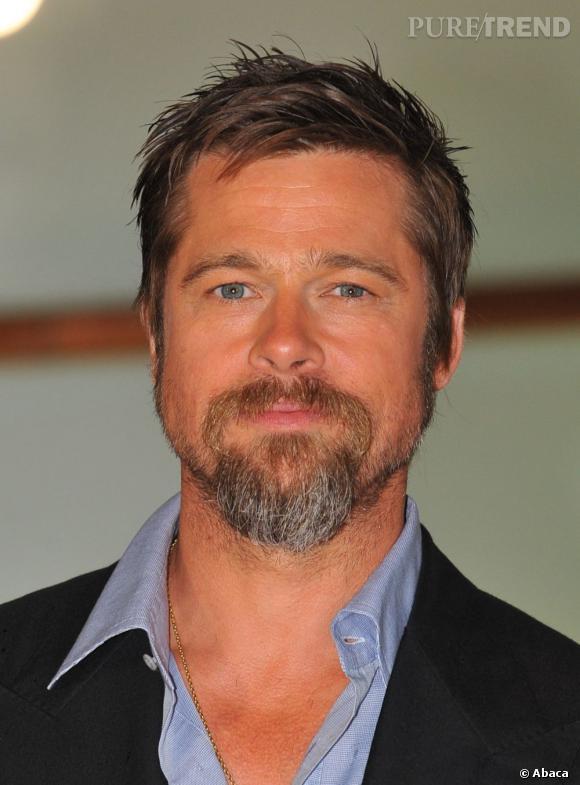 À la fin de cette année, on le devine, Brad Pitt se laisse pousser la barbe. Un peu trop ?